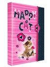 Karton PP Desky na sešity s boxem A4 JUMBO - Happy Cats