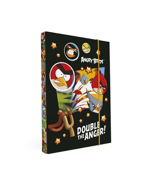 Karton PP Desky na sešity s boxem A4 - Angry Birds