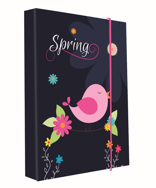 Desky na sešity s boxem A4 - Spring