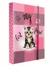 Karton PP Desky na sešity s boxem A4 - Kočka