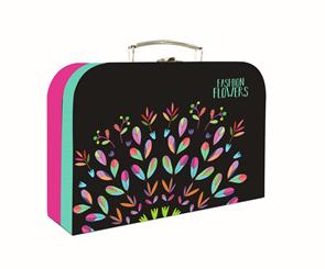Dětský kufřík lamino 34 cm - Fashion Flowers