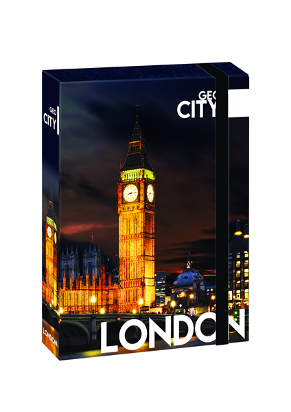 Karton PP Desky s boxem A4 JUMBO - Londýn