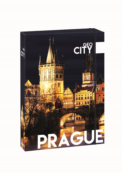 Karton PP Desky s boxem A4 JUMBO - Praha