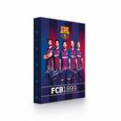 Desky na sešity s boxem A4 JUMBO - FC Barcelona