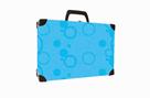 Kufřík lamino hranatý okovaný - NEO COLORI modrá