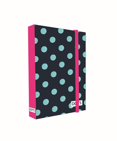 Desky na sešity s boxem A4 - Romantic Nature Dots