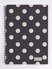 Kroužkový blok A5 - Romantic Nature Dots silver