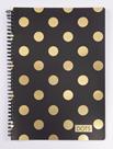 Kroužkový blok A6 - Romantic Nature Dots gold