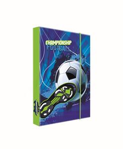 Desky na sešity s boxem A4 - Fotbal