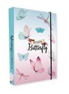Desky na sešity s boxem A5 - Rainbow Butterfly / Motýl