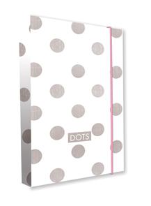 Desky na sešity s boxem A4 - Romantic Nature Dots 2 (bílošedé)