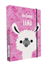 Desky na sešity s boxem A5 Jumbo - Lama