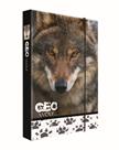 Desky na sešity s boxem A4 Jumbo - GEO WILD vlk 2