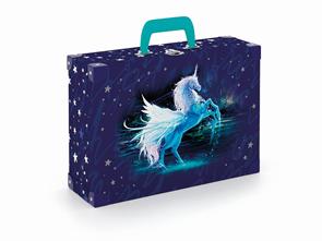 Kufřík lamino hranatý okovaný - Unicorn/Jednorožec