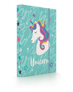 Desky na sešity s boxem A4 - Unicorn iconic