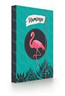 Desky na sešity s boxem A5 - Flamingo