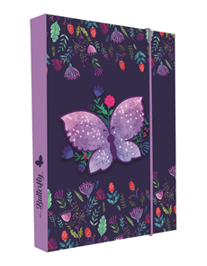 Desky na sešity s boxem A4 - Motýl 2020