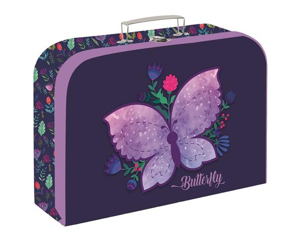 Dětský kufřík lamino 34 cm - Motýl 2020