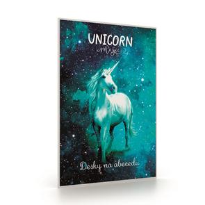 Desky na abecedu - Unicorn/Jednorožec 2020