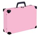 Kufřík lamino hranatý okovaný PASTELINI - růžový