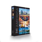 Desky na sešity s boxem A4 Jumbo LET´S TRAVEL - Amerika