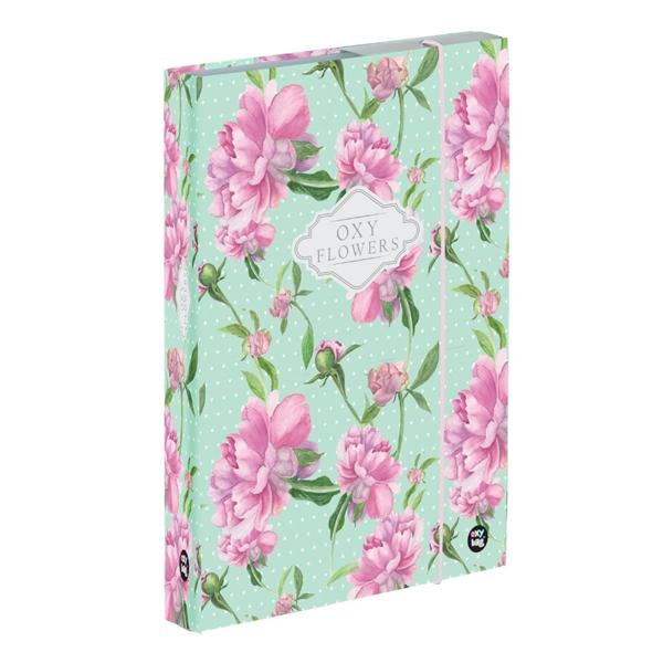 Desky na sešity s boxem A4 - Flowers