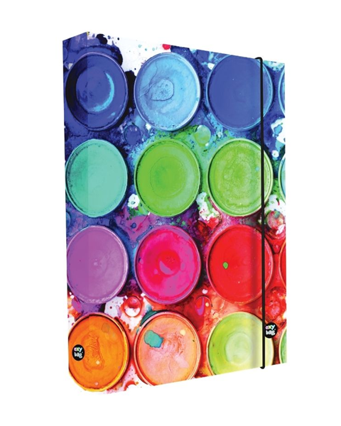 Desky na sešity s boxem A4 - Barvy