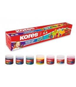 Kores Prstové barvy Dedi Kolor 7×30 ml, 7 barev