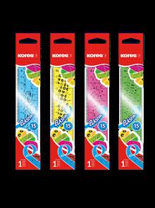 Kores Ohebné pravítko Elastik 15 cm - mix barev