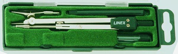 Linex Školní kružítko kovové 140 mm s kloubem v sadě s příslušenstvím