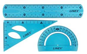 Linex Flex Sada silikonových ohebných rýsovacích pravítek - modrá