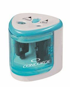 CONCORDE Stolní elektrické ořezávátko Duo na baterie - modré