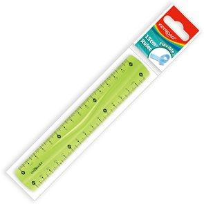 KEYROAD Ohebné pravítko 15 cm průhledné - mix barev
