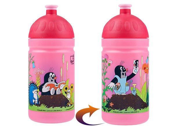 Zdravá láhev 0,5 l - Krtek a kalhotky růžová