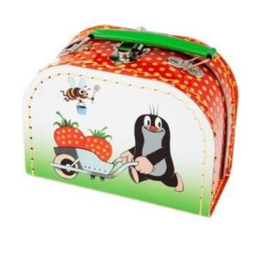 Kufřík Krtek a jahody šitý 16x12x8cm