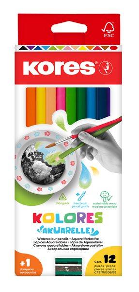 Kores AKUARELLE Akvarelové pastelky - 12ks