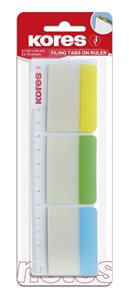 Kores Samolepicí záložky na pravítku 37 × 50 mm - 3 barvy