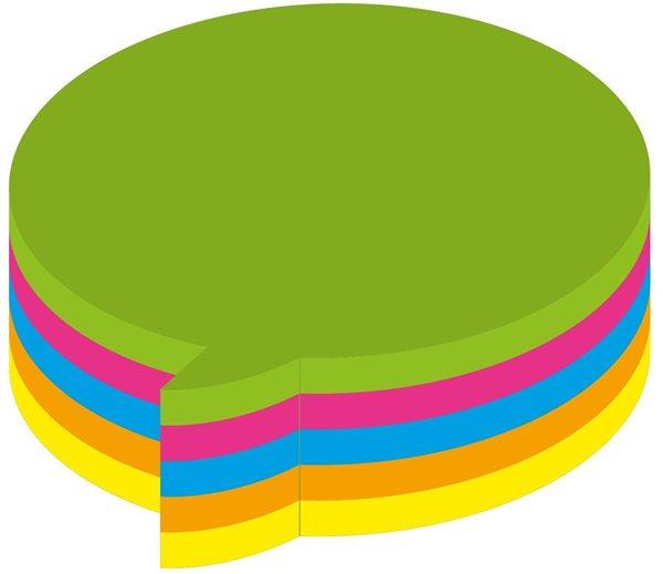 Kores Samolepící bloček DIALOGUE 70x70mm - neon