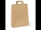 Papírová taška s plochým uchem 45 × 17 × 48 cm, 100 g - hnědá