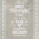 Vánoční ubrousky 33 x 33 cm, 20 ks - Šťastné svátky