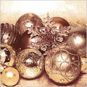 Stil Ubrousky 33 x 33 - Vánoční ozdoby zlaté