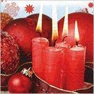 Stil Ubrousky 33 x 33 - červené svíčky