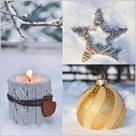 Stil Ubrousky 33 x 33 Vánoce - Vánoční dekorace ve sněhu