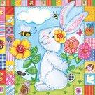 Stil Ubrousky 33 x 33 Velikonoce - Zajíček