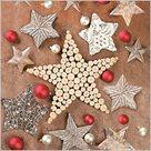 Stil Ubrousky 33 x 33 Vánoce - Přírodní s hvězdami