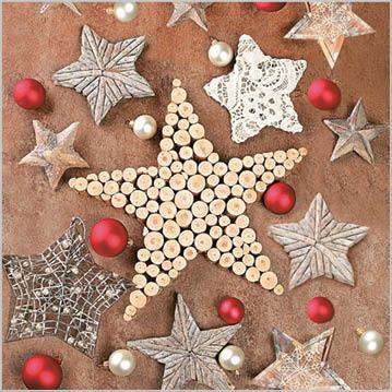 Stil Ubrousky 33 x 33 - Vánoční s hvězdami
