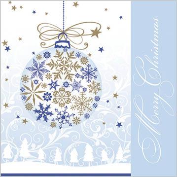 Stil Ubrousky 33 x 33 - Vánoční ozdoba Merry Christmas modrá