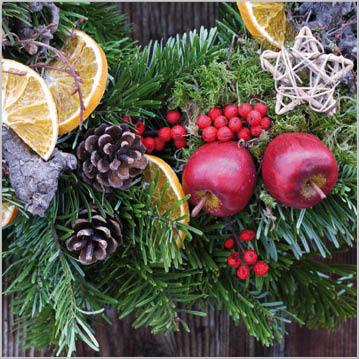Stil Ubrousky 33 x 33 - Vánoční girlanda