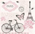 Stil Ubrousky 33 x 33 dekorativní - Paris (Eiffel)