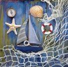 Stil Ubrousky 33 x 33 dekorativní - Námořnický